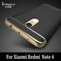 IPAKY For Xiaomi Redmi Note 4 Case Removable Cover 3 In 1 Hard Plating Cover For