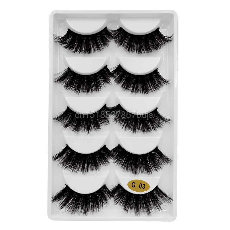 HTB1.d0SXUzrK1RjSspmq6AOdFXaY New 3D 5 Pairs Mink Eyelashes extension make up natural Long false eyelashes fake eye Lashes mink Makeup wholesale Lashes