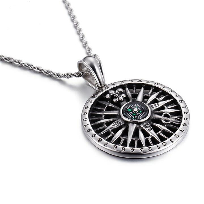 Truetu antique silver compass pendant women necklace navigation truetu antique silver compass pendant women necklace navigation jewelry mens jewelry pirate viking runes compass anchor pendant in pendant necklaces from aloadofball Image collections