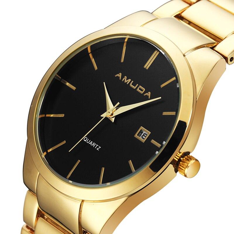 AMUDA Watches Men's Wrist Watch Top Brand Luxury Stainless Steel Waterproof Mens Quartz Watch Male Clock Relojes чуковский корней иванович к с чуковский к лучшие стихи и сказки