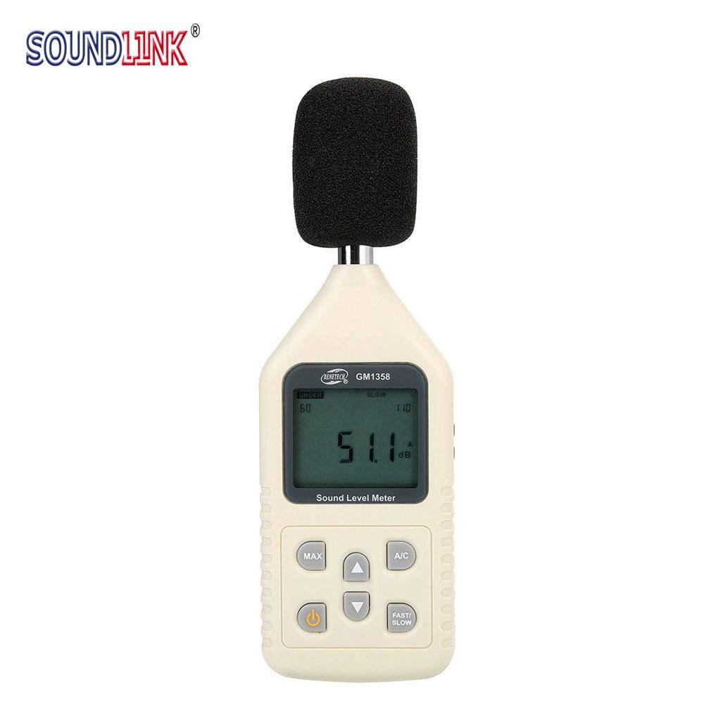 Gm1358 LCD Digital Sound Level Meter Noise Meter DB Decibel Meter Measuring Range 30-130db цены