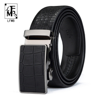 LFMB Designers Luxury Cowhide Brand Genuine Leather Automatic Buckle Belts For Mens High Quality Male