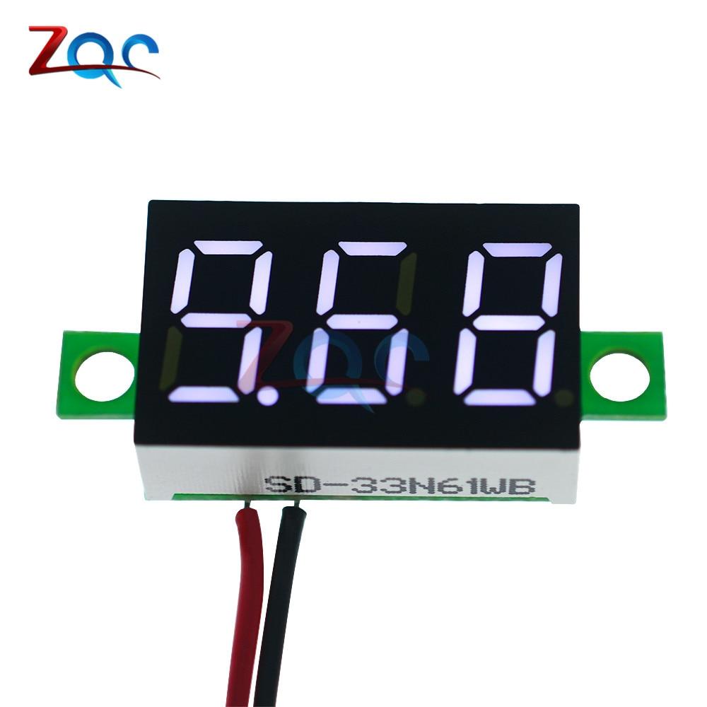 DC 4.7~32V 3-Digit Display Voltmeter 0.36 Inch Mini LED Digital Voltmeter White Panel Volt Voltage Meter Free Shipping