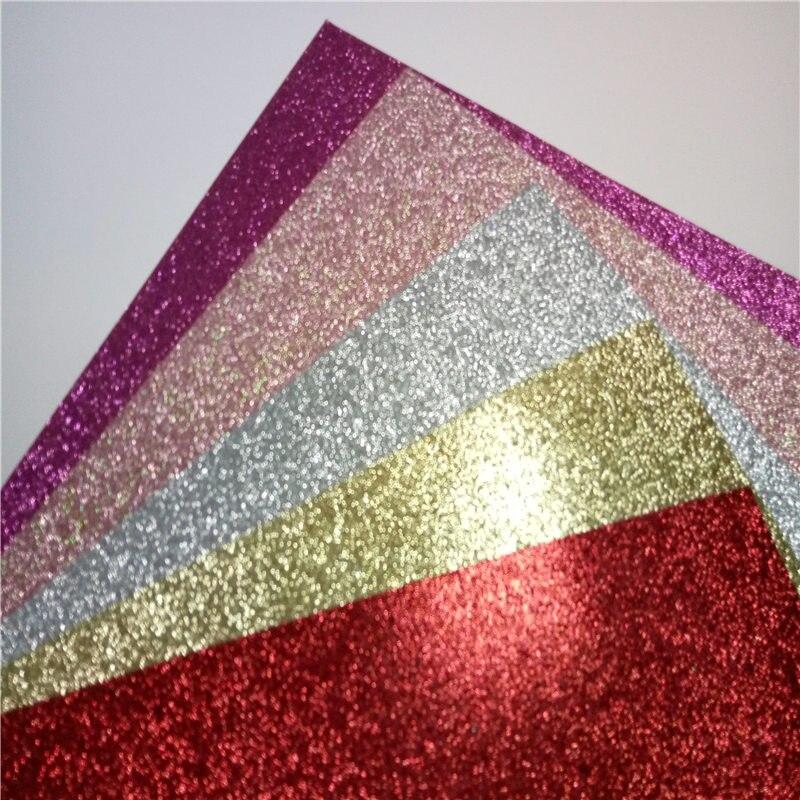 Artesanías glitter cardstock papel pastel toppers caja de regalo de papel-in Papel para artesanías from Hogar y Mascotas    1