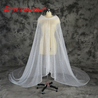 Новый роскошный дизайн, свадебные накидки с бусинами, свадебные накидки с шапкой, длинное пончо, свадебная куртка, болеро