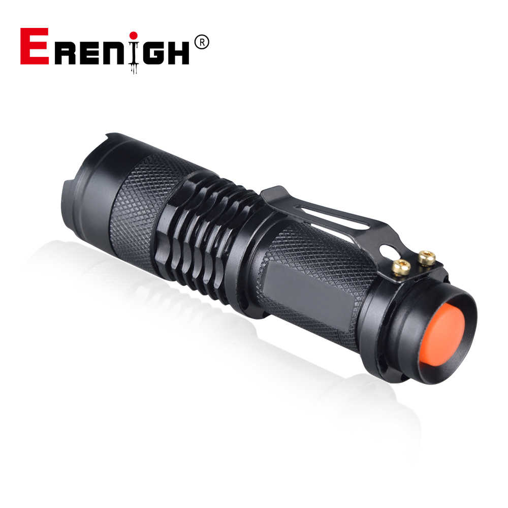 Enfoque Ajustable Mini Linterna CREE Q5 2000 lúmenes LED Linterna AA 14500 Linterna LED montaje