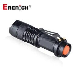 Регулируемый фокус Мини фонарик CREE Q5 2000 люмен светодиодный фонарик Фонарь AA 14500 фонарь Linterna LED Mount