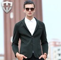 MWAMI Высокое Качество Мужчины Осень 70% Шерсть Двусторонняя Теплый Молодой Человек Бизнес Супер Тонкий Свадьба Жених Твердые Мода костюмы Пиджаки