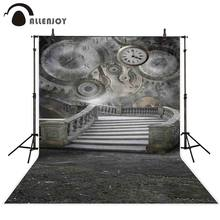 Allenjoy – arrière-plan de photographie de studio, horloge, cloche, équipement vintage, pierre, escaliers, papier peint magique pour séance photo