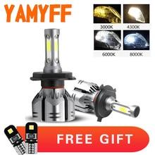 2Pcs Car Headlight H4 H7 Bulbs 8000K 6000K 4300K 3000K H27 9005 9006 H11 H1 H3 12V LED Headlamp Auto Fog Lights