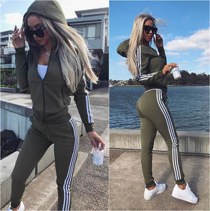 Tracksuit Women Set Top-Pants Hoodies Warm 2piece-Set Female New Newest Solid