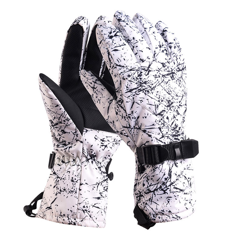 -30 Camouflage Men Snow Gloves Winter Outdoor Sports Mitten Waterproof Windproof Bicycle Mountains Snowboarding Gear Ski Outfits