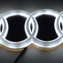 Molls 4D Emblem light lamp For Audi A3 Q5 led Back Rear 4D Badge Sticker light  4D led logo light Emblems