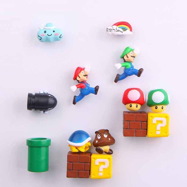3D Super Mario Resin Fridge Magnets 5