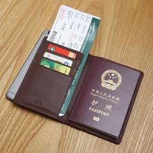 LAN männer leder passdecke handgemachte passport berühmte marke geldbörsen halter