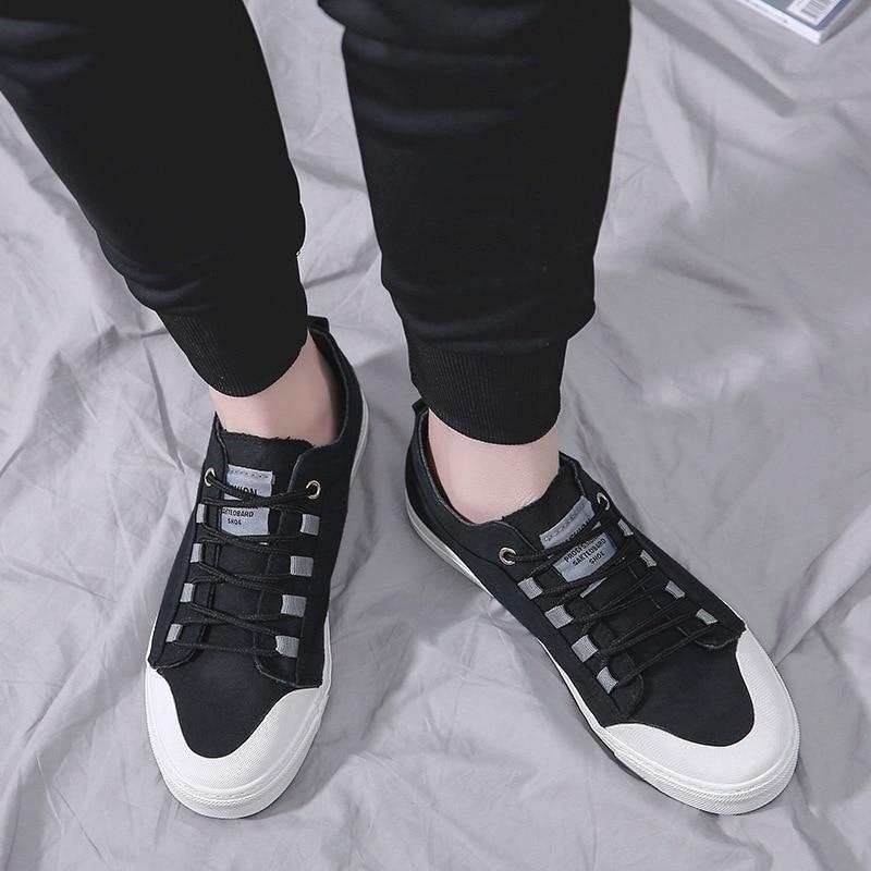 Lona Moda Preto Homens Lazer Primavera Meninos Tênis Casuais up Autumm Costura Sólida Sapatos cinza Vulcanize Respiráveis Planas Da Lace De wSqtUpqX