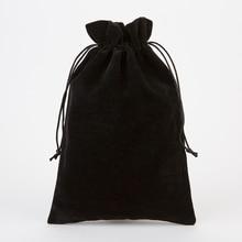 Gift Pouch 20x30cm(8″x12″) 5pcs/lot Big Velvet Red Wine Packaging Bag Makeup Jewelry Drawstring Bag Glasses Shoe Scarf Pocket