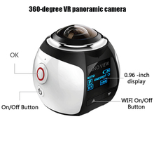 360 Degree VR Panoramic Outdoor Camera 4K Wireless WiFi Waterproof Aerial Camera Wide Angle Recorder Recording Video Camera