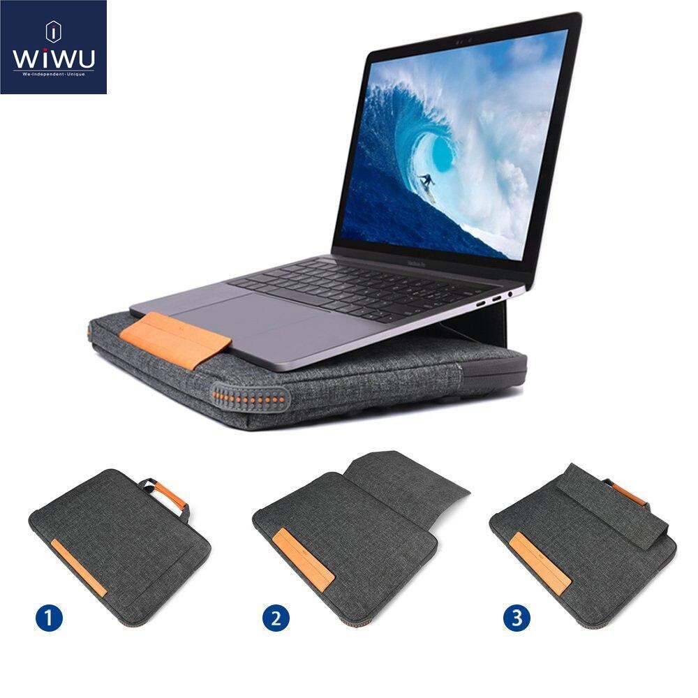 WIWU 2019 pochette d'ordinateur étui pour macbook Air Pro 13 15 sacoche d'ordinateur portable pour Lenovo 14 pouces Multi poches sacoche pour ordinateur portable 13 15