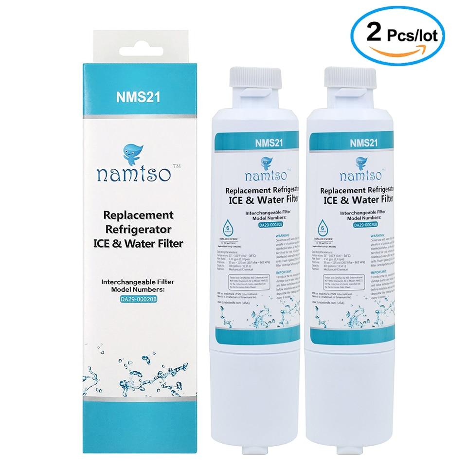 Purificador de agua de Namtso NMS21 refrigerador de hielo y filtro de agua para reemplazo para Samsung filtro DA29-00020B HAF-CIN 2 unids/lote