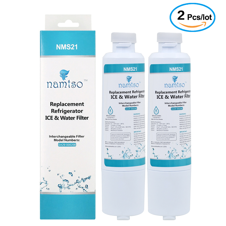 Water Purifier Namtso NMS21 Refrigerator Ice & Water Filter Replacement for Samsung Filter DA29-00020B HAF-CIN 2 Pcs/lot цена и фото