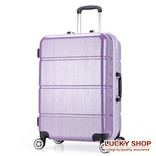 20 24 inch aluminum frame caster trolley suitcase TSA lock striped suitcase board chassis bulk