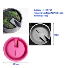 Craft Clay Mold for Concrete Planter Flower Pot Making Molds Silicone cement flowerpot silica gel mould