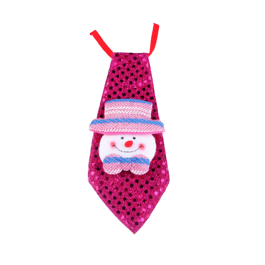 Popular Brand Holiday Necktie Ties With Sequins Kids Party Ornament Clothes Decoration Snowman Quality And Quantity Assured