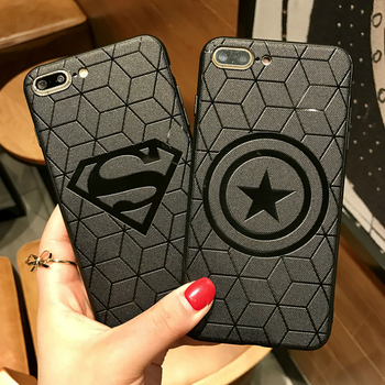 Avengers Captain America Shield Superhero Case for iPhone 6 6s 7 8 Plus X 10 Silicone Rubber Cover Ironman Comic capinhas 3D чехлы марвел
