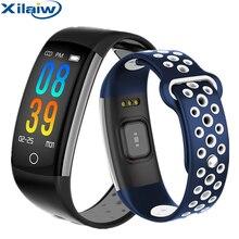 Xilaiw Смарт-часы Для мужчин Для женщин спортивные Bluetoth смарт-браслет с крови сердечного ритма IP68 Водонепроницаемый Smartwatch для IOS и Android