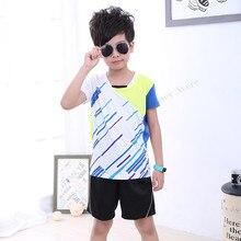 Adsmoney Children table tennis shirt suits Children short sleeved table tennis suit,kids badminton shirt,sport jerseys for boys