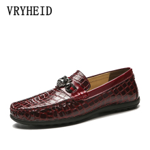VRYHEID High Quality Genuine Leather Men Shoes Soft Moccasins Loafers Fashion Brand Flats Comfy Driving Big Size 38~47