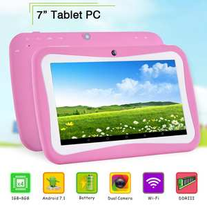 7inch Tablet Android-7.0 IPS 2GB 16GB 2GB-RAM 16GB-ROM Tempered-Glass PC Gifts 1024--600