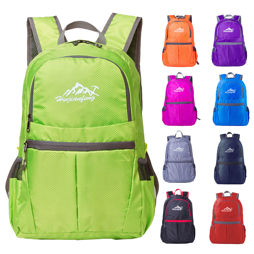 Outdoor Sports Portable Foldable Lightweight BackPack bag Waterproof Folding Bag For Travel Camping Hiking mountaineer cycling