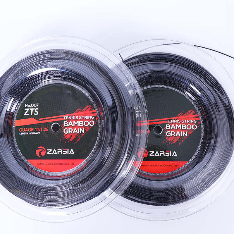1 Reel ZARSIA Bamboo Polyester Tennis Strings 1.25mm 200M Tennis Racket String Free Shipping