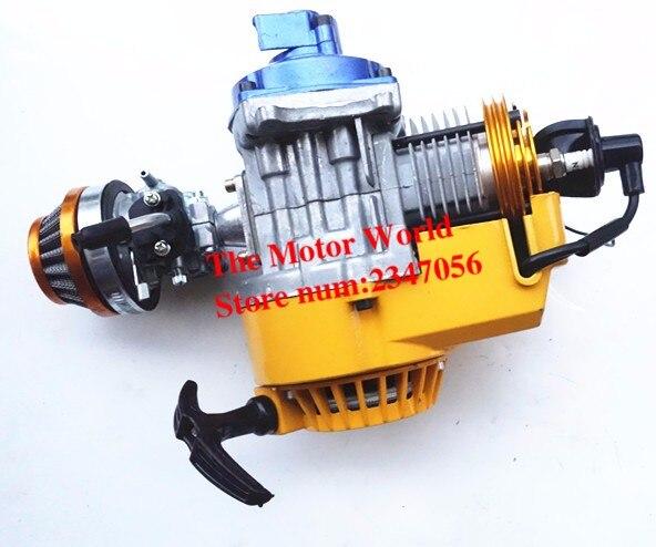 47cc 49cc Pocket Bike Motor Motor Carburateur Mini Crossmotor Mini Crossmotor Motor Vierwiel Strand Uitstekende Kwaliteit