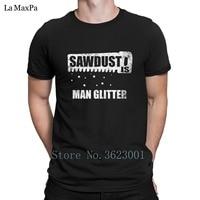 Custom Brief Tee Shirt Zaagsel Is Man Glitter Ontwerp Mannen T Shirt Kostuum Tshirt Voor Mannen Normale T-Shirt Mens O-hals Pop Top Tee