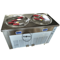 The factory price sale double round pan ice roll machine fried ice cream in China