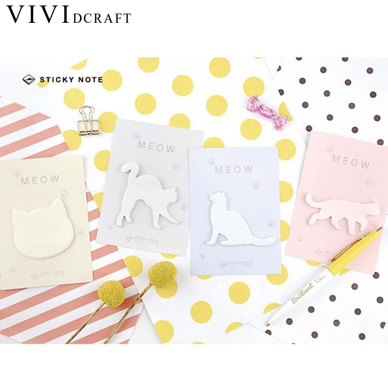 Cute Sticky notes Kawaii Sticky Paper Cat Memo Pad Post Notes For Students Gift Korean Stationery Office School Supplies Random