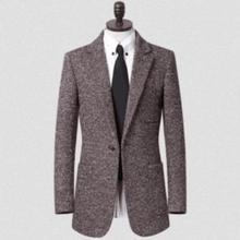 -Подростков мужская одежда в зимний костюм шерстяные пальто Мужские пряжкой коричневая куртка Плюс Размер S-9XL y abrigos chaquetas cappotto