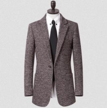 Adolescent men's clothing in winter suit woolen coat Mens buckle a brown jacket Plus Size S – 9XL y abrigos chaquetas cappotto