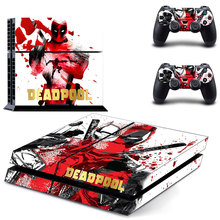 Ps4 Skin Deadpool stickers for Sony PS4 PlayStation 4 Console and 2 controller skins