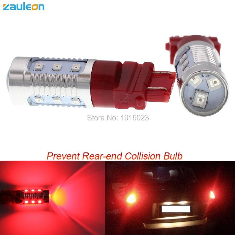 2шт 3157 Красный LED Строб тормозные хвост света 12smd 2835 СИД наивысшей мощности стайлинга автомобилей предотвращения наезда внешнего освещения