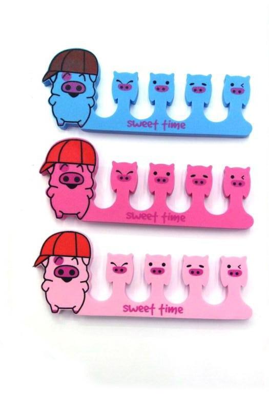 Wholesale 100pcs (50 Pairs) Soft Plastic Form Toe Separator Finger Spacer Manicure Pedicure Nail Art Tips Design DIY Tools