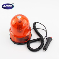AEING 1* 12V/24V LED Car Truck flash Warning light Beacon Strobe light Emergency Light Amber Warning Light/Magnetic Mount/Plug