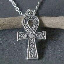 Egypt Life Cross Necklaces Vintage Antique Silver Ankh Cross Pendant Necklace  Choker Collier Bijoux Christmas Gift New