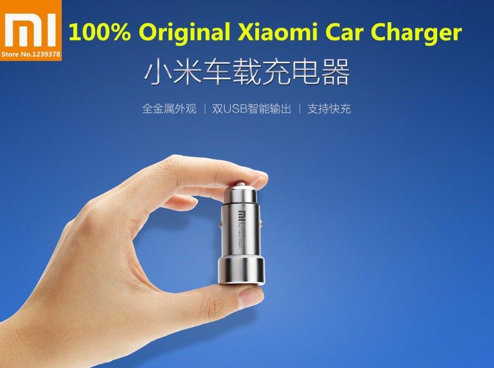 100% D'origine Xiaomi Chargeur De Voiture Boîtier Métallique Double USB Ports 3.6A Max De Charge Chargeur De Voiture Universel pour Xiaomi 8 iPhone ipad