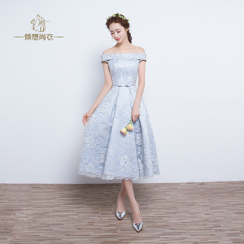 Free shipping grey/pink lace embroidery lolita dress/ballet/stage dance performance dress
