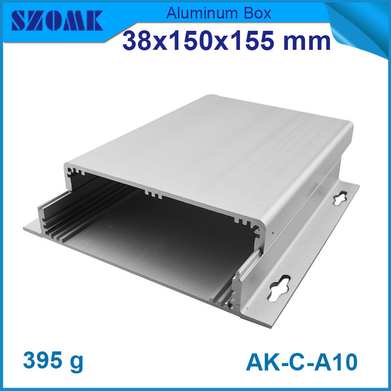 10 pcs/lot 38(H)x150(W)X155(L)mm 6063-T5 aluminium enclosure for pcb and electronic components from distribution and instrument