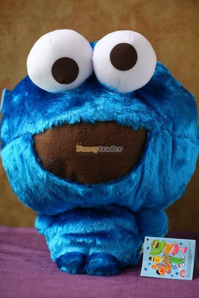 Fancytrader 15\'\' 36cm Copyrighted Plush Stuffed Cookie Monster Shoulder Bag, Free Shipping FT90380 (2)